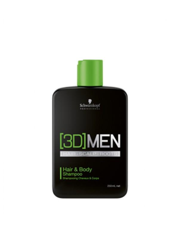 Schwarzkopf 3D men hair & body shampoo 1000ml