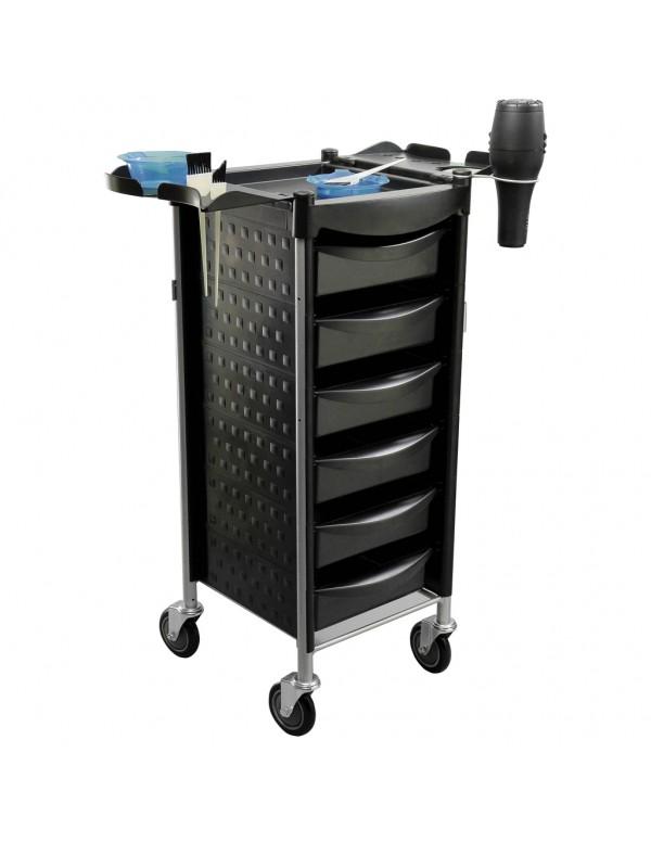 Werkwagen salon trolley zwart