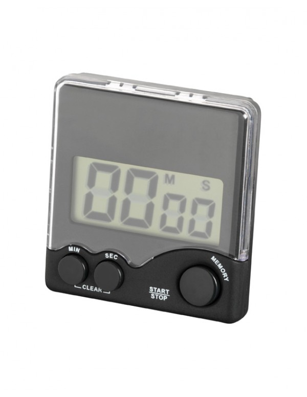 Comair Wekker digitaal timer clip zwart
