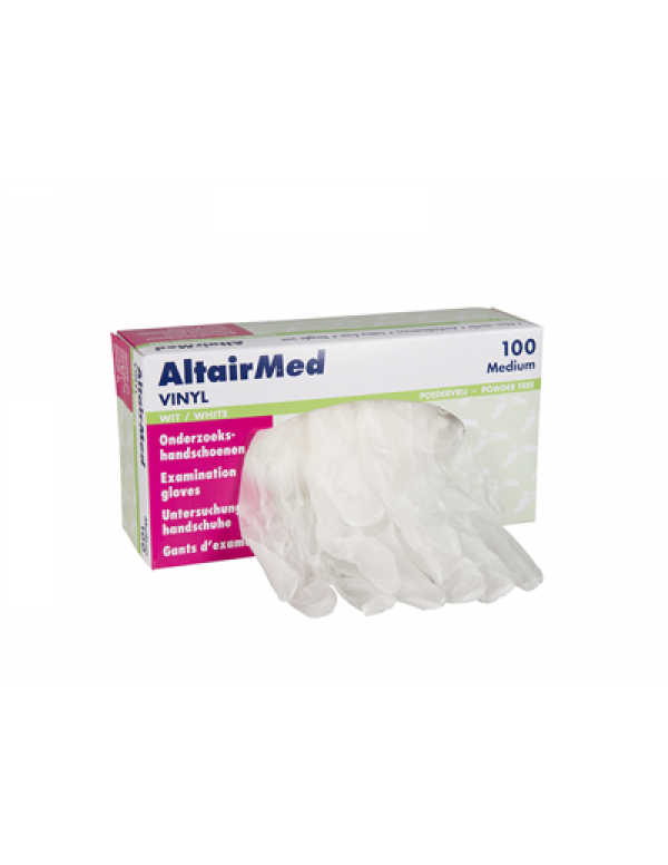 Altairmed Vinyl handschoenen poeder vrij 100stuks