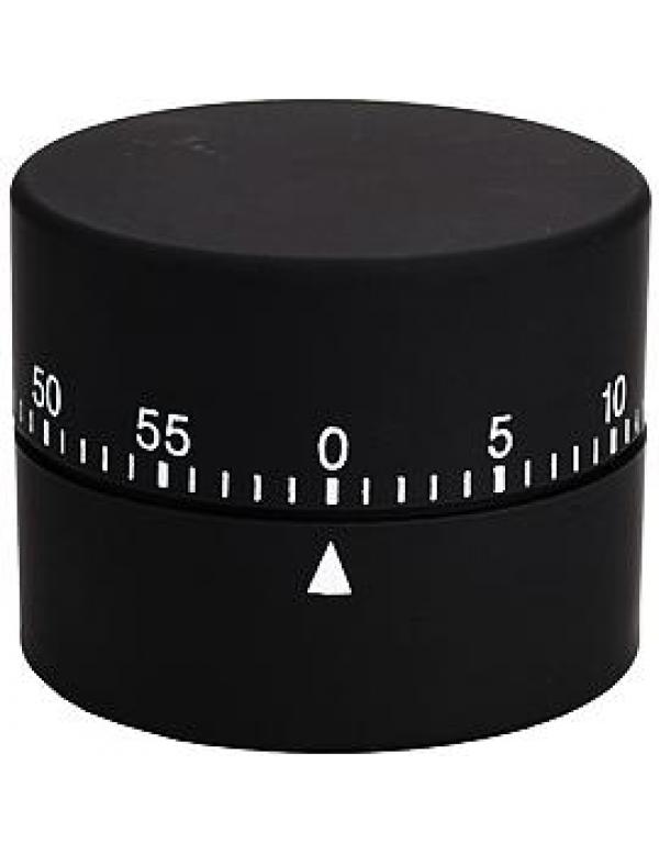 Efalock wekker round timer zwart