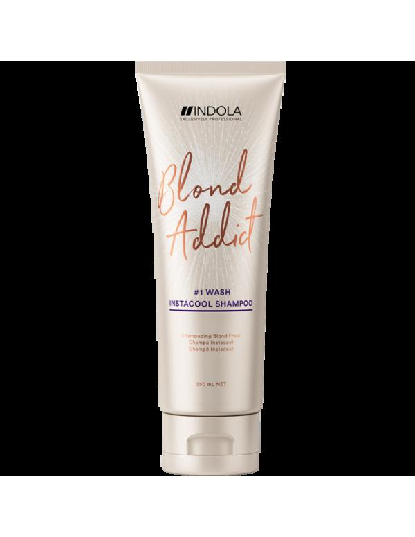 Indola blond addict instacool shampoo 250ml
