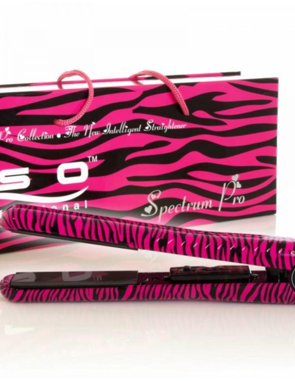 Iso stijltang spectrum pro zebra roze