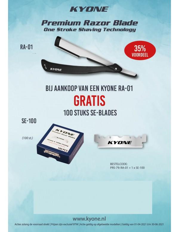 Kyone mes premium razor blade RA-01 + 10 stuks mes...