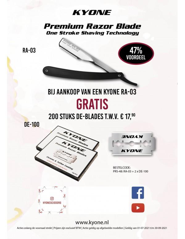 Kyone premium razor blade ra-03 + 200stuks mesjes
