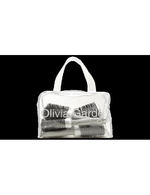 Olivia Garden ceramic + ion borstel bag 5stuks
