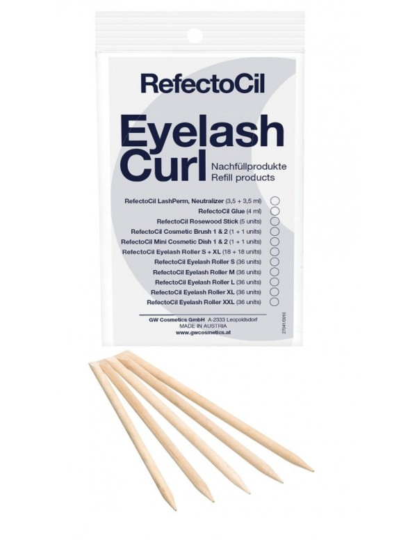 Refectocil eyelash curl refill rosewood sticks 5st...