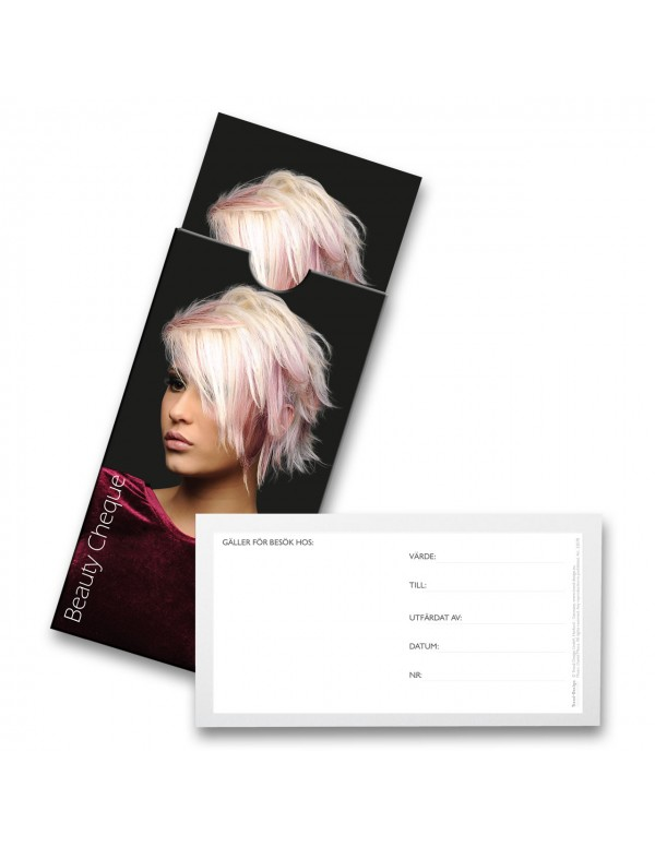 Trend-design cadeaubon beauty cheque  20stuks