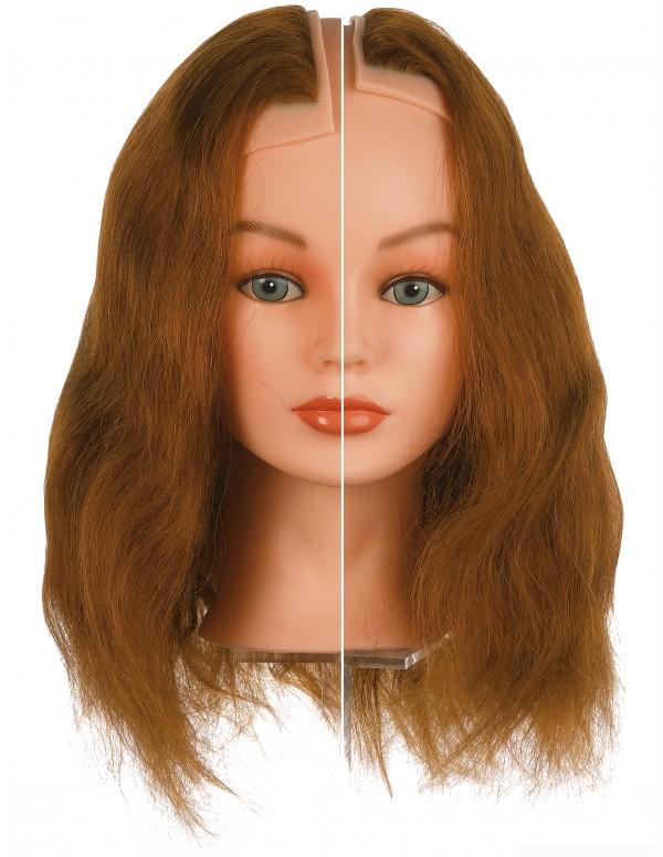 Sibel Haarstuk links & rechts oefenhoofd