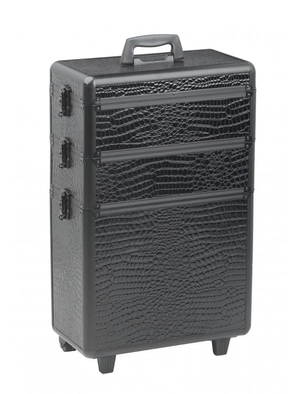 Sibel Koffer Modula Zwart croco 3-delig