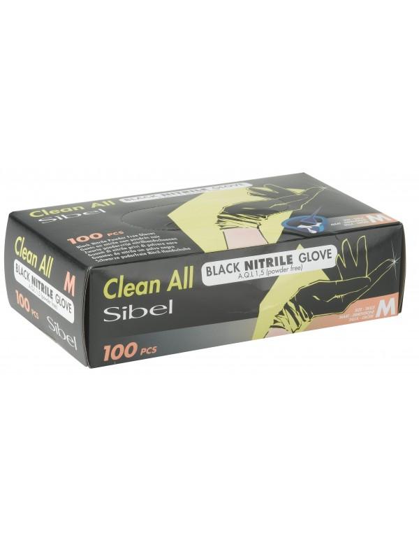 Nitrile aql 1.5 handschoenen zwart 100stuks
