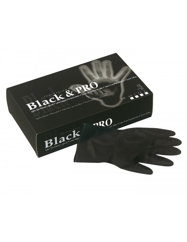 Black & pro handschoenen latex 100stuks