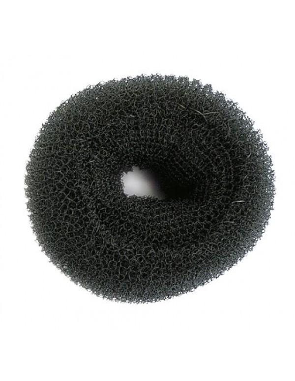 Haardonut knot rond nylon lux zwart 9cm