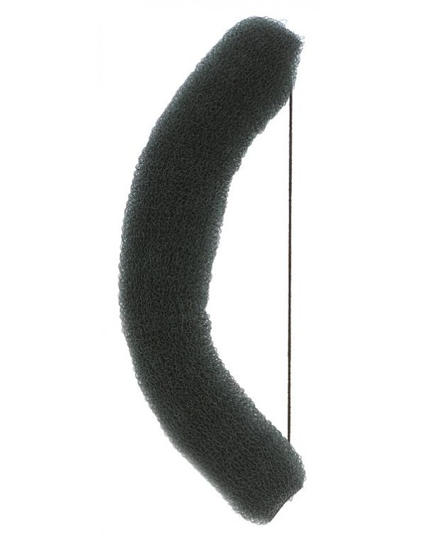 Haardonut Knot elastiek nylon lux zwart 15cm